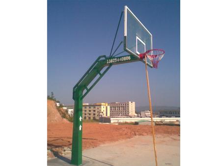 梯形钢板埋土篮球架