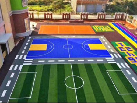 幼儿园足球场、篮球场