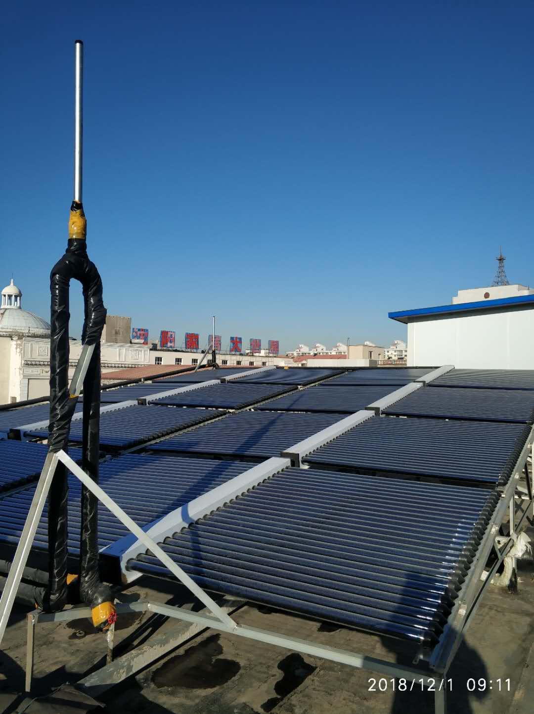 沈阳太阳能热水工程施工安装过程及方法