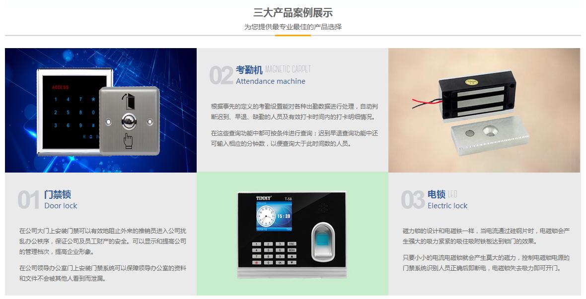 三大产品案例展示