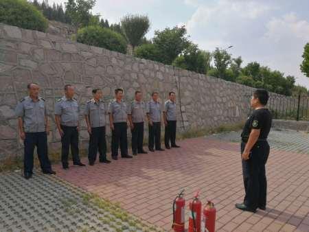 公司开展派驻保安队员消防安全轮训工作,得到服务单位高度评价!