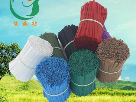 PE包皮铁丝 包胶扎丝 环保包塑镀锌扎线电器电源线捆绑带花卉定型