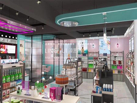 化妆品展示柜策划如何选择与化妆品相匹配的展柜
