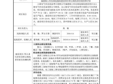 上海电气风电设备莆田有限公司