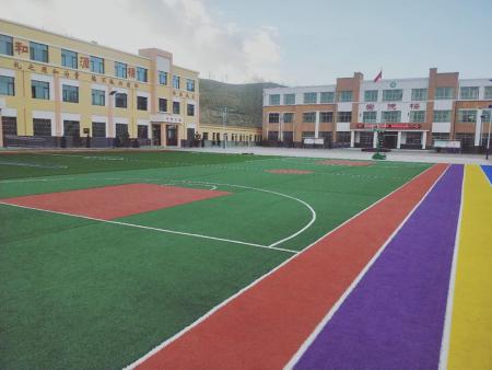 天祝县打材沟镇小学,篮球场足球场跑道