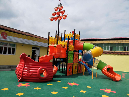 陇西县首阳幼儿园户外大型滑梯