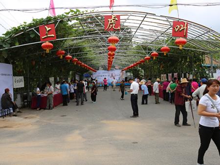 中国华夏万里行书画家协会在延庆区刘斌堡乡上虎叫村举办《第 一届虎文化节》