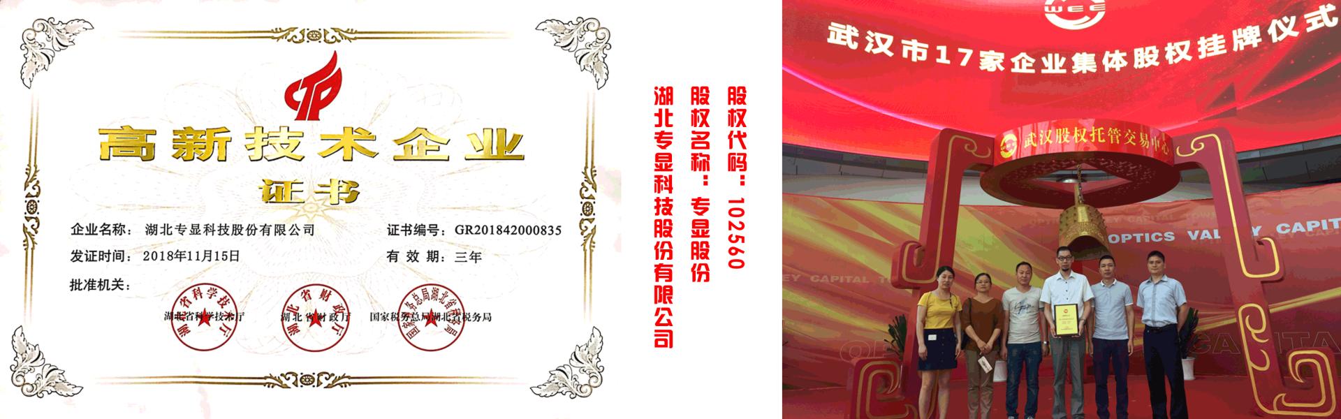 股权托管交易中心挂牌的武汉拼接屏厂家