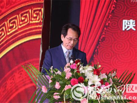 汉中百盛实业集团公司董事长李石在新闻发布会上致辞