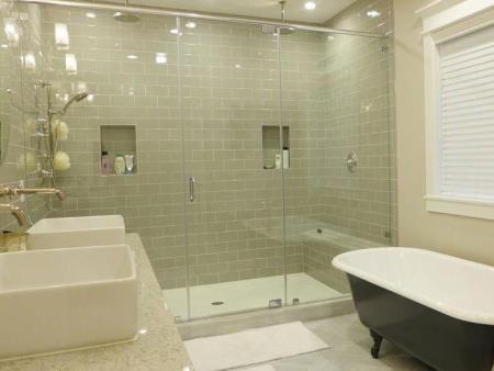 浴室玻璃门水垢的清理办法