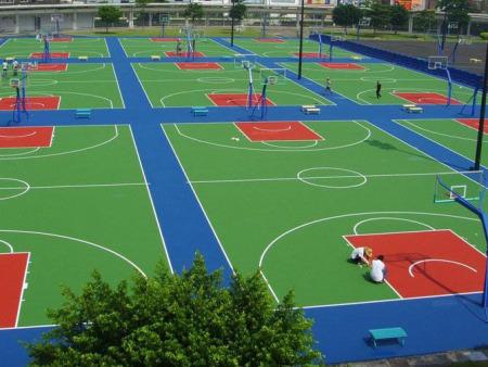 青海硅PU操场施工-硅PU塑胶篮球场材料产生固化的原因是什么?