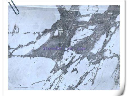 Iceburg Invisible Grey Brazil  White Venato