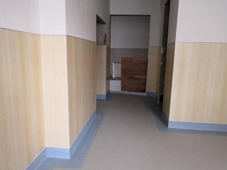 定西市第二人民医院住院部大楼墙塑+地胶铺设工程22800平米  完工时间2018.10