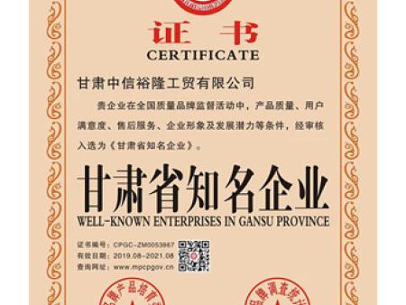 甘肃省知名企业