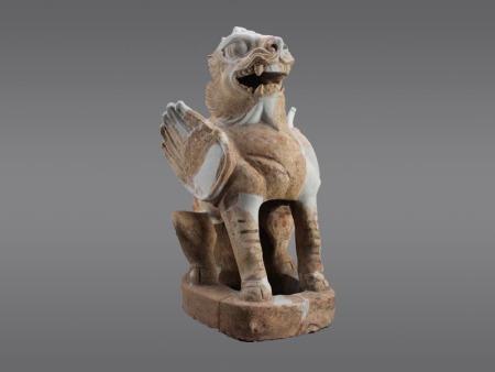 唐代白色硬质陶镇墓兽
