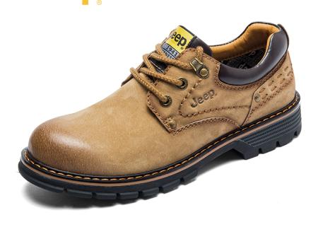 jeep吉普秋冬男鞋户外工装靴大头马丁靴男士休闲皮鞋英伦潮鞋短靴