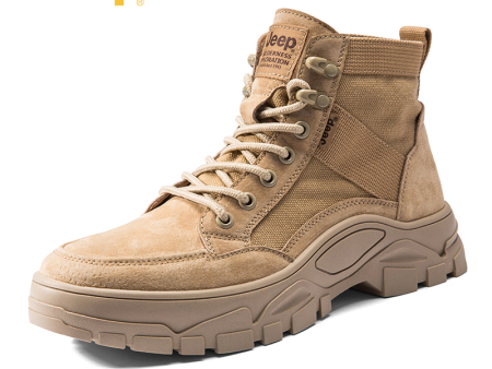 jeep吉普秋季新款马丁靴男英伦工装靴户外休闲高帮鞋男鞋潮流短靴