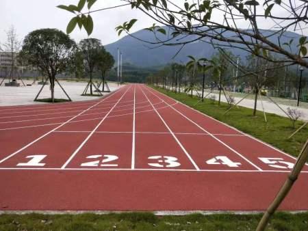 广西塑胶跑道,柳州市柳城监狱塑胶跑道及硅PU球场