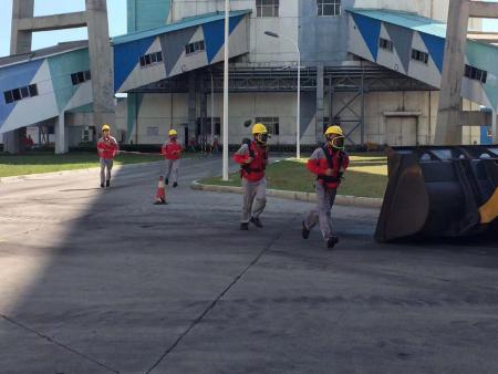 鴻山項目組織開展輸煤系統火災處置演練
