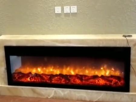 白桦林间客户定制壁炉实拍