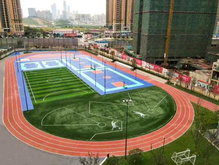 南宁市青秀区第 一初级中学塑胶跑道、广西塑胶跑道,人造草坪、硅PU球场