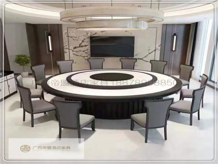 南宁电动桌,电动圆桌|实木电动亚博体育appios-新中式03