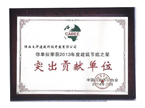 2013年节能之星突出贡献单位