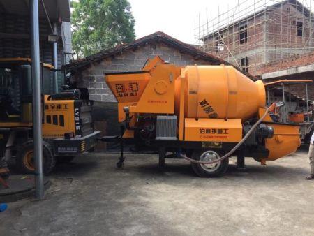 混凝土搅拌输送一体泵