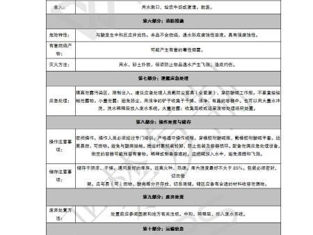 食品工业碱性ballbet安全技术说明书(MSDS)