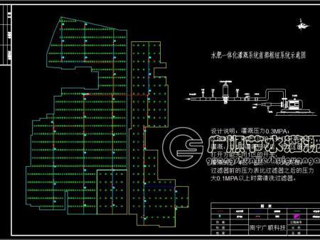 广西滴灌工程设计施工图(南宁广顺灌溉科技公司提供)