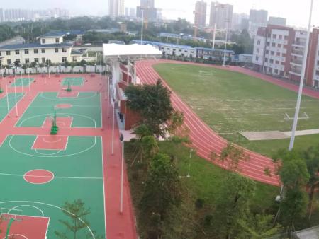 南宁市相思湖学塑胶跑道,广西硅PU篮球场