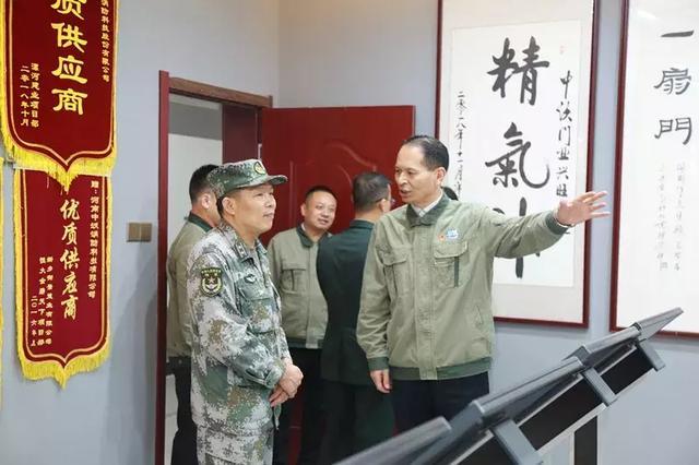 河南陸軍預備役高射炮兵師領導蒞臨軍旅中沃考察指導!