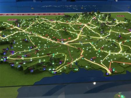 廣西地形模型電子沙盤