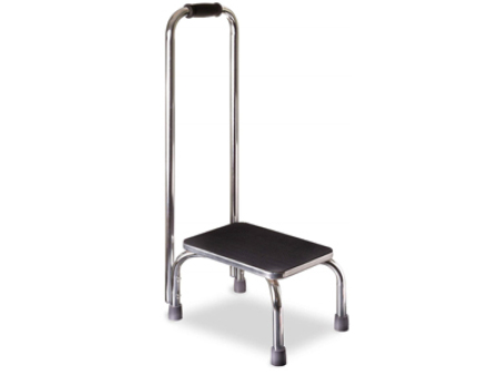 Elderly Stainless Steel Hospital Steel Step Stool With Handle BS33009