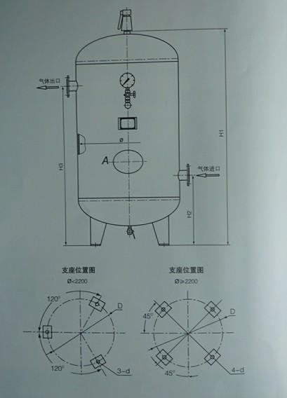 碳素钢和低合金钢储气罐(0.8~1.6MPa)