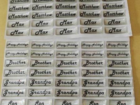 镭射水晶滴胶标签