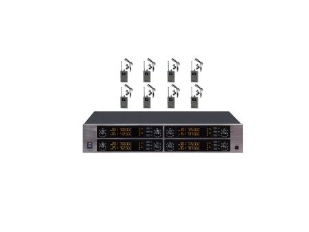 八路U段无线领夹话筒: DC-1280/L