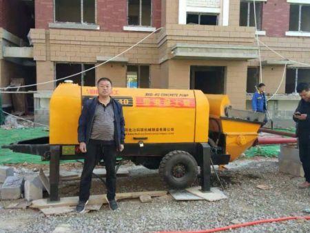 40型输送泵工地照片