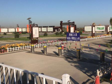 河北石家莊滹沱河漫水橋升降柱項目驗收完成