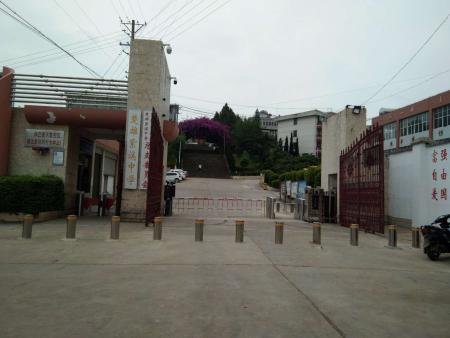 云南楚雄紫溪中學防撞升降樁工程安裝完畢