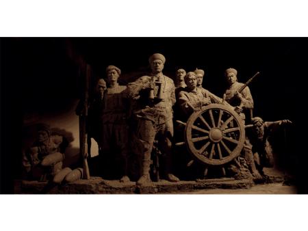 甲午战争博物馆主题雕塑 圆雕