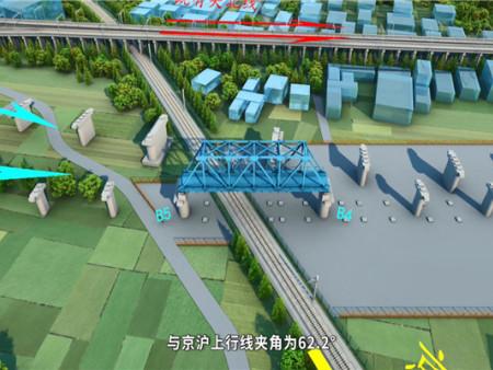 浙江舟山高架桥施工施工动画制作