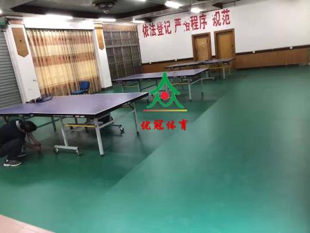 yabo88app2019天峨县林业局乒乓球室PVC地胶