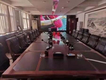 中国石油西气东输银川管理处会议室无纸化会议系统以及大屏显示系统项目,银川LED显示屏