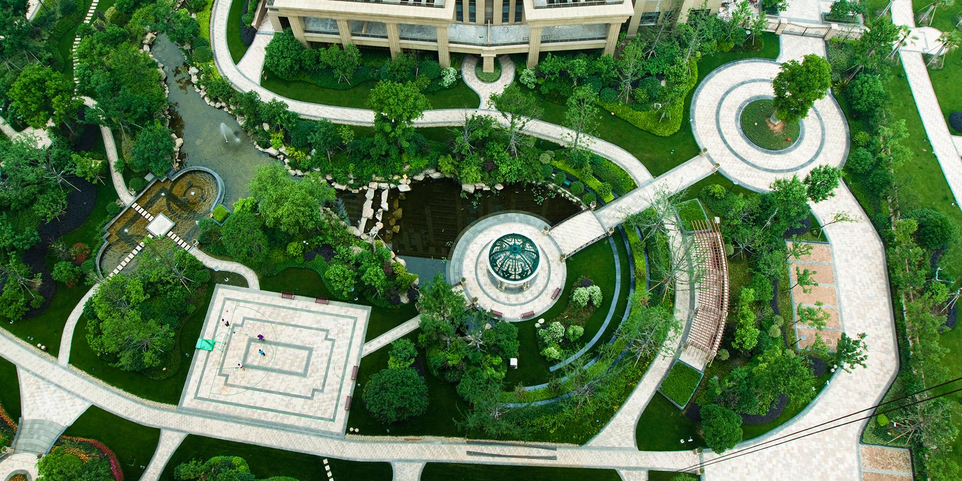 兰州园林景观设计铺装设计中的尺度概念