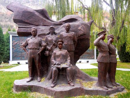 兰州部队雕塑-部队军史馆雕塑