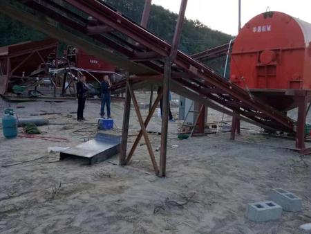 鹅卵石制沙生产线