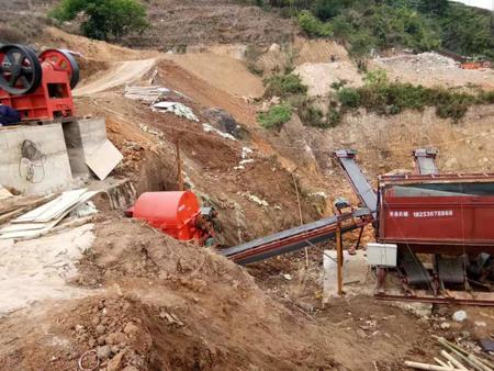 山石制沙生产线