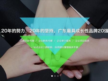 工商财税网站设计