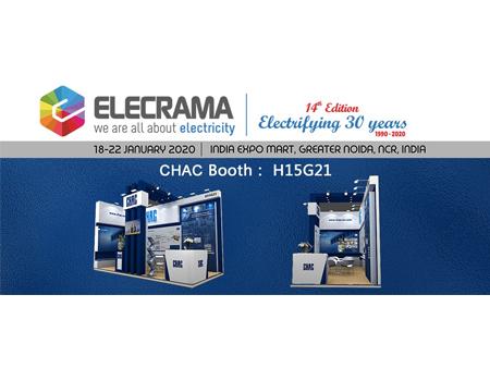 相聚2020年印度新德里电力电工及电力电子展,让世界发现你! Welcome to CHAC@ELECRAMA 2020.